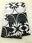 BLACK WHITE African Wax Print Fabric 100 Cotton 45 in 6 YARDS