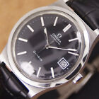 Authentic Omega Geneve Date Black Dial Stainless Steel Automatic Mens Watch