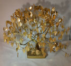 Mid Century Hollywood Regency Gold Wire Tree Sculpture - Largest