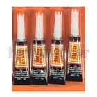 4 Tubes Super Glue Strong Adhesive CYANOACRYLATE 3 grams Free Shipping