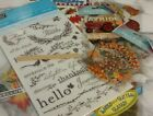 Stampin Up Autumn Harvest Rub Ons and Fall Sticker Lot