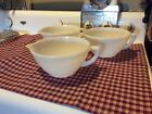 Set of 3 FIRE KING OVEN WARE POUR SPOUT BATTER-MIXING BOWL 48 OUNCE 7 1/2 DIA