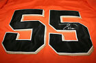 TIM LINCECUM AUTO SIGNED SAN FRANCISCO GIANTS 2010 WORLD SERIES JERSEY ORANGE