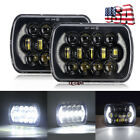 Brightest 2pcs 105W 5x7 7x6 Led Cree Headlights For Jeep Cherokee XJ YJ Trucks