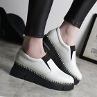 Women Sports Casual Sneakers Athletic Slip On Loafers Creepers Round Toes Shoes