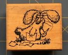 SILLY CARTOON BUNNY VINTAGE RUBBER STAMP VERY RARE BUNNY by ALL NIGHT MEDIA