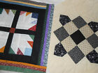 UNfinished Quilt Top Blocks x2 Hand Quilted Mini Art for Finish or Cutter 2