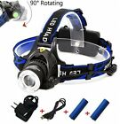 Rechargeable Headlamp,1800 Lumens Zoomable Waterproof LED Head Lamp Flshlight ,