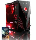 PC Gaming VIBOX Ultra 3,8GHz 8GB 1TB W10 HDMI USB3. AMD R7 Grafik rot beleuchtet