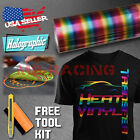 Rainbow Pattern Heat Transfer Vinyl HTV T Shirt 20 Wide Roll Iron On Heat Press