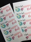 50 Happy Mail Stickers Labels