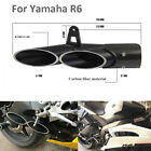 For Yamaha R6 Motorccyle Aluminum Exhaust Muffler Pipe Black Exhaust Tail Pipe