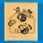 Jack and Jill Rubber Stamp Nursery Rhyme Art by Ann Schweninger Kidstamps
