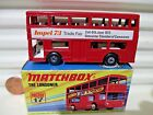 Lesney Matchbox MB17B 1973 The Londoner Red IMPEL 73 Bus Unpainted Base MntBxd