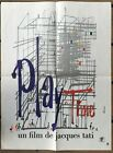 Original French Movie poster Jacques Tati PlayTime affiche 1967 23 x 15