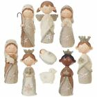 RAZ Imports 45 Faux Knit Christmas Nativity Set of 9 Pieces