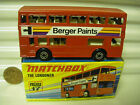 MATCHBOX MB17B BERGER PAINTS BUS CHARCOAL BASE DotDash Whls +AXLE Braces MINT