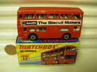 MATCHBOX MB17B 1972 THE LONDONER RED JACOBS BISCUIT MAKERS BUS MINT BOXED
