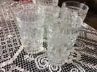 Indiana Colony Park Lane Pattern Tumbler Glasses Lot of 4 Clear