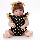 Reborn Baby Dolls Girl Look Real Lifelike Toddler with Lovely Patterns 23 Inches