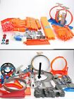HUGE LOT HOT WHEELS 120 TRACK PIECES LOOPS BOOSTERS CURVES CONNECTORS
