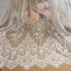 Ivory Chantilly French Eyelash Lace Fabric Diy Wedding Bridal Dress 59 Y Veil