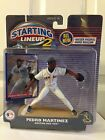 STARTING LINEUP 2 PEDRO MARTINEZ BOSTON RED SOX 2001 NEW ON CARD