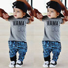 US Toddler Kid Baby Boy Top T shirt+Stripe Harem Pant Leggings Outfits Clothes