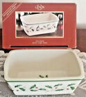 Lenox HOLIDAY Holly  Berry Mini LOAF PAN New In Box