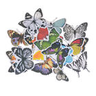 19pcs Colourful Butterfly Stickers Diy Scrapbooking Planner Card Making Gift USA