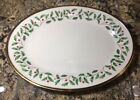 Lenox China HOLIDAY Oval Serving Platter 14 Christmas Holly Berry NWT