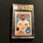2017 TOPPS HERITAGE JOEY VOTTO *REAL ONE AUTO RED INK #43 68 BGS 9.5 GEM MINT*