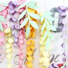 Floral Reef Hanging Paper Wisteria Flower Garland Event Wedding Party Decor Leaf