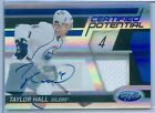 TAYLOR HALL 2011-12 TOTALLY CERTIFIED MIRROR BLUE JERSEY AUTO AUTOGRAPH SP 50