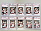 $1,000 Mike Trout Lot (10) 2011 Topps Update Rookie Graded GEM 10 - Custom card