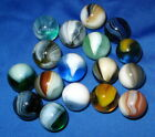 17 MINT Master Sunburst & Brushed Patch Marbles. 5/8