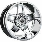 20x12 Chrome TIS 543C Wheels 5x55 5x150 44 Lifted Fits Chevrolet Tracker