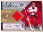 2007-08 Upper Deck SP Game Used CAM WARD Inked Sweaters Auto Jersey Rare # 50