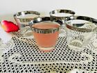 retro mid century modern Platium Trim Old Fashion Glasses 4