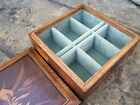 LOVELY EARLY JAPANESE FIGURED INLAID ANTIQUE JEWELLERY BOX - FAB INTERIOR