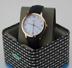 NEW AUTHENTIC FOSSIL BLAKE ROSE GOLD BLUE NAVY LEATHER MEN'S FS5429 WATCH