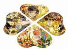 Carmani Four Decorative Glass Plates with Artworks by Gustav Klimt 4 Piece Set