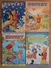 FOUR ORIGINAL VINTAGE RUPERT BEAR ANNUAL BOOKS 1974 75/78/79 BY DAILY EXPRESS
