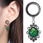2 Pieces Ear Expanders Green Fish Scale Dangle Ear Gauges Piercing Jewerly