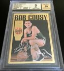 Bob Cousy certified autograph Boston Celtics Action Packed HOF card BGS graded 9