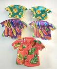 5 Set By Clay Art Tropical Hawaiian Shirt Ceramic Snack Nut Candy Dishes