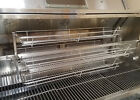 VERY LARGE Stainless Spit Roaster Rotisserie Baskets Fits 20 pork shoulders