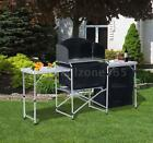 6 Heavy Duty Portable Deluxe Pack Away Camp Kitchen Dining Table Food Prep Area