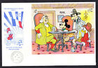 1989 St Vincent First Day Cover FDC Walt Disney Salute France Philosophers Cafe