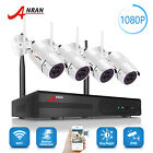 ANRAN 4CH HD 4*1080P WIFI Outdoor Wireless IP Home CCTV Security Camera System